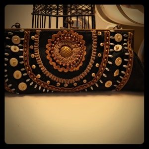 Coldwater Creek boho style clutch